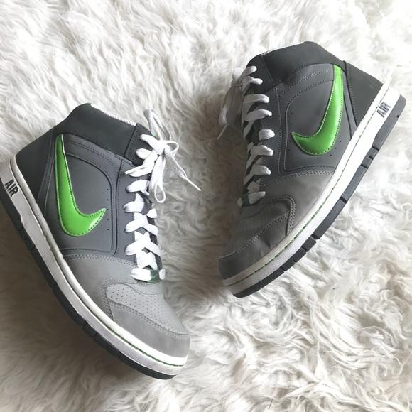 080597dcc2341 Nike Air Prestige 2 Size 8.5 Gray green high tops.  M 5b5f75e82aa96ab6860b3a37